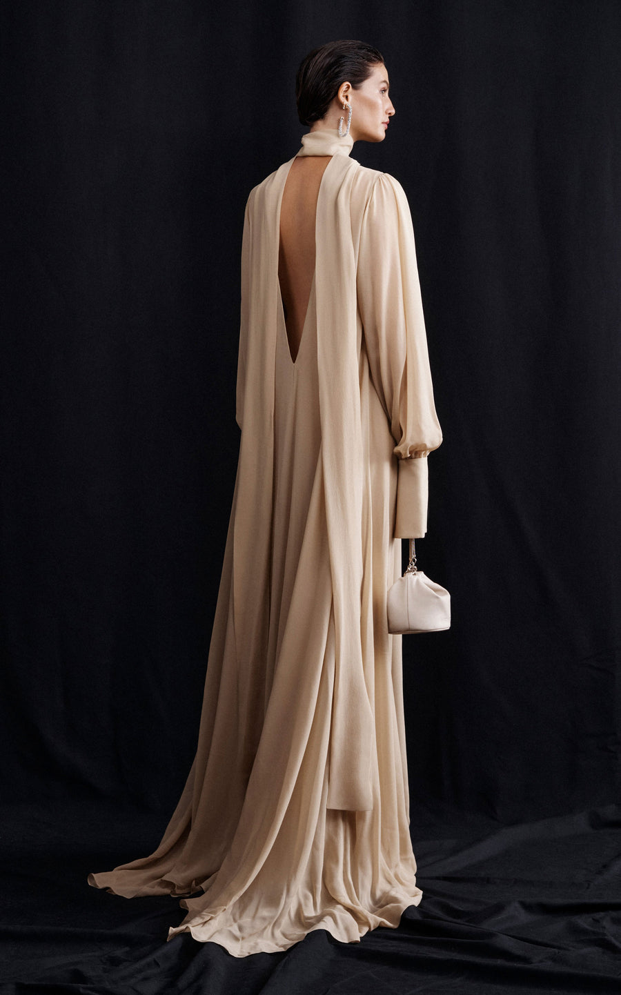 Preorder Eclipse Billow Maxi Dress | Beige