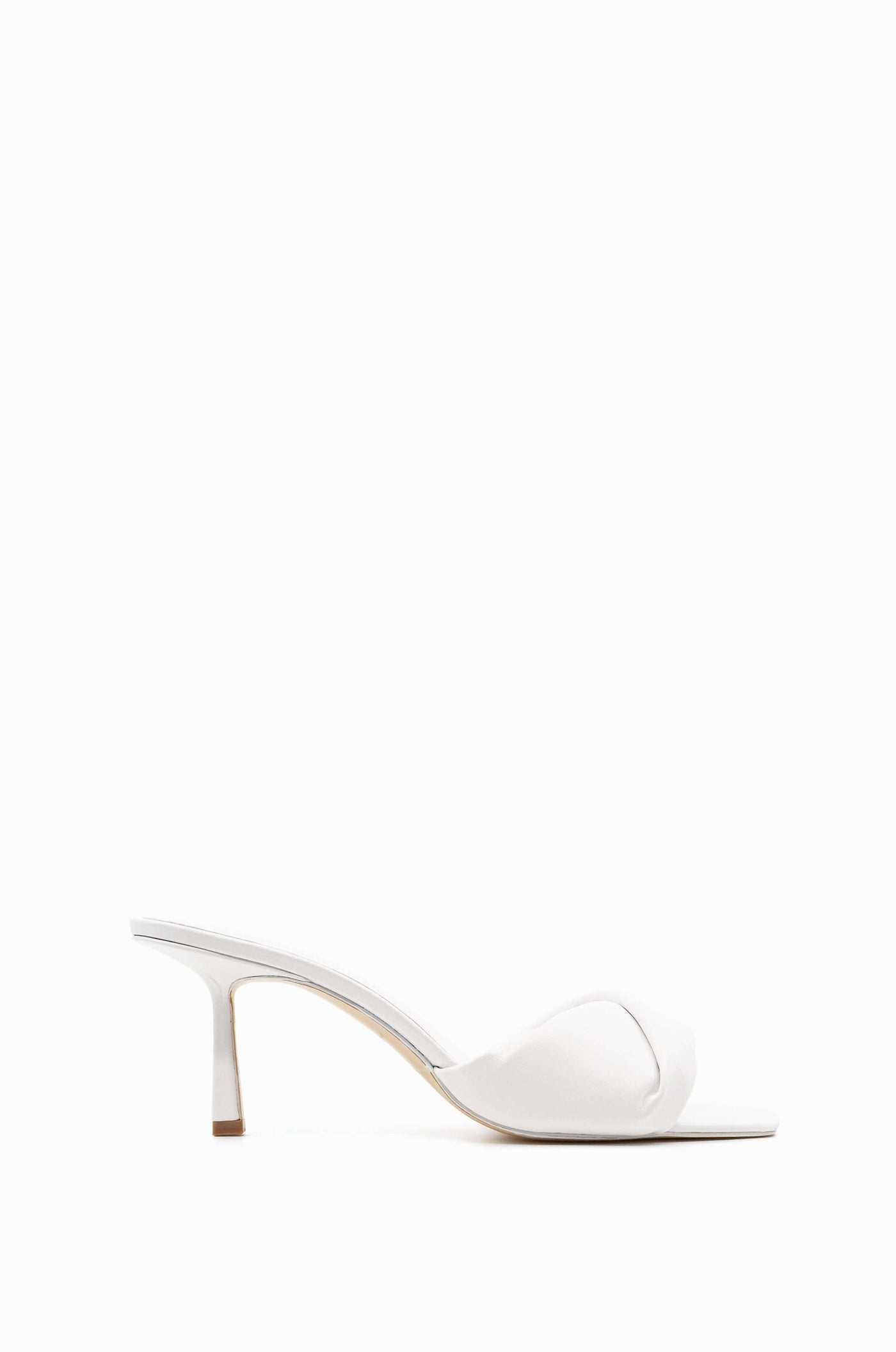 Twist Front 75 Heel | White