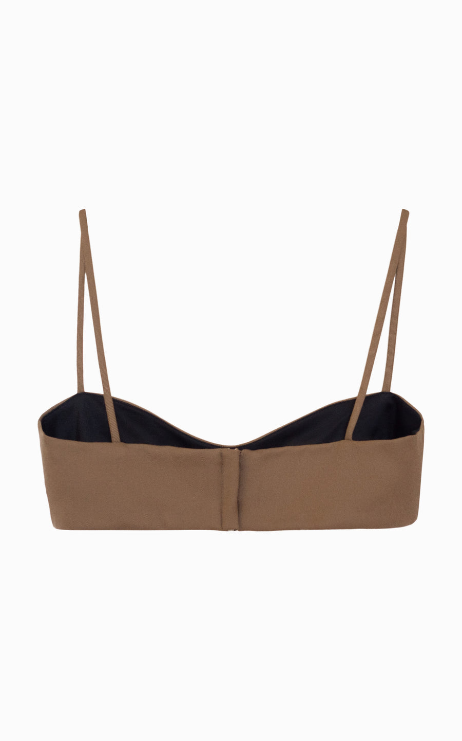 Bound Tailored Bralette | Almond