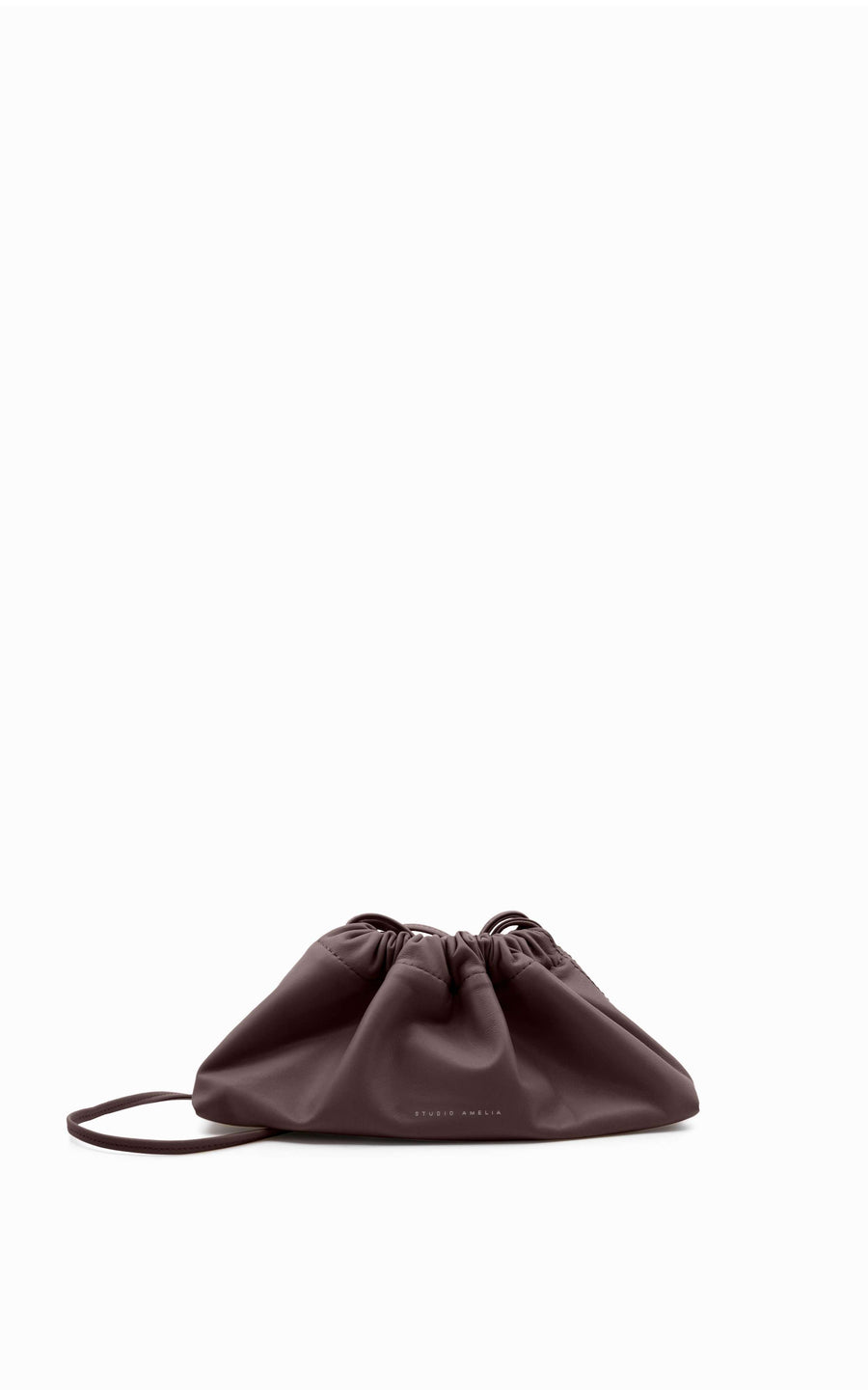 Mini Drawstring Bag | Chocolate