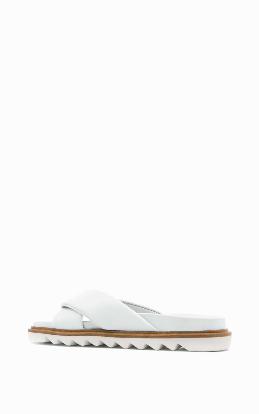 Preorder Padded Band Slide | White