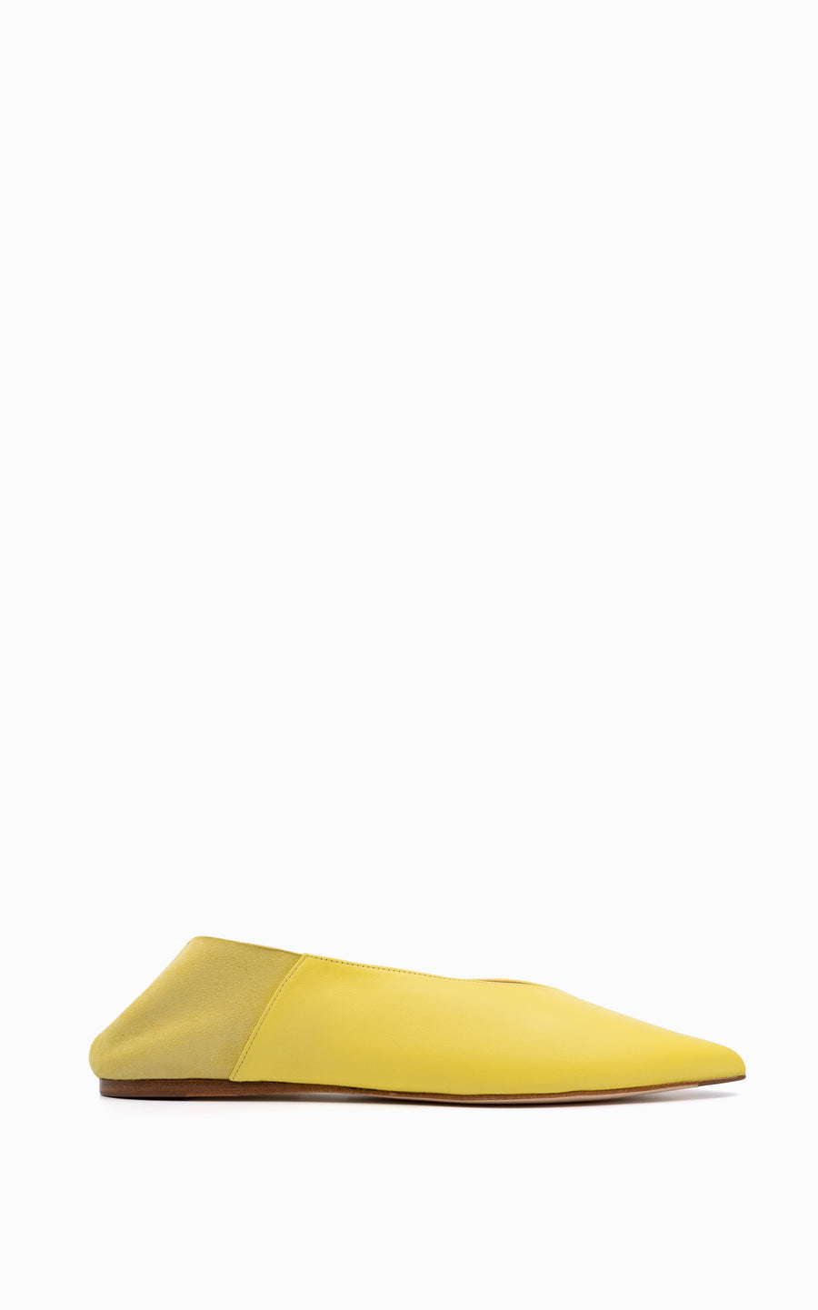 Preorder Pointed Babouche Slipper | Lemon