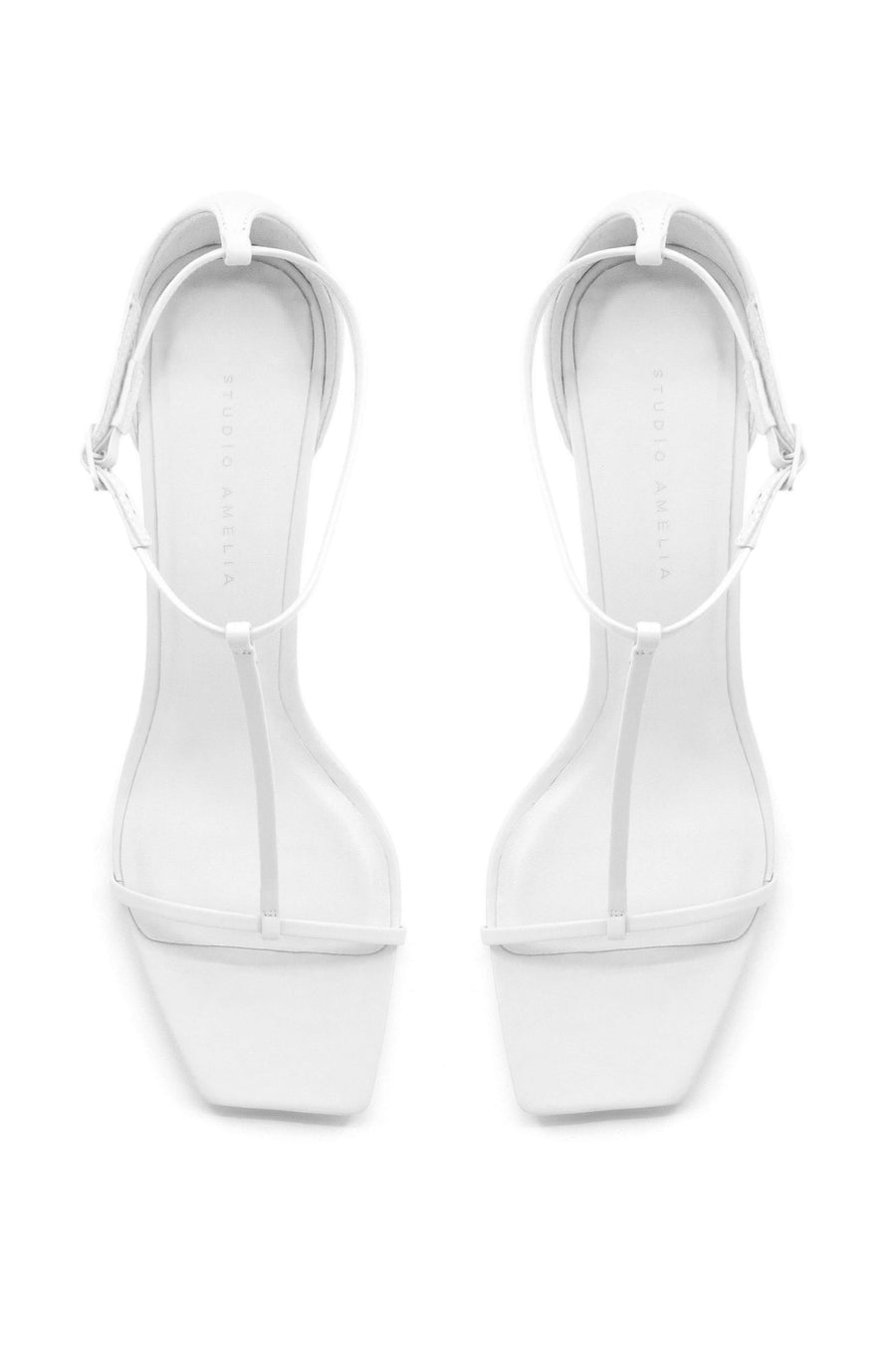T-Bar 75 Heel | White