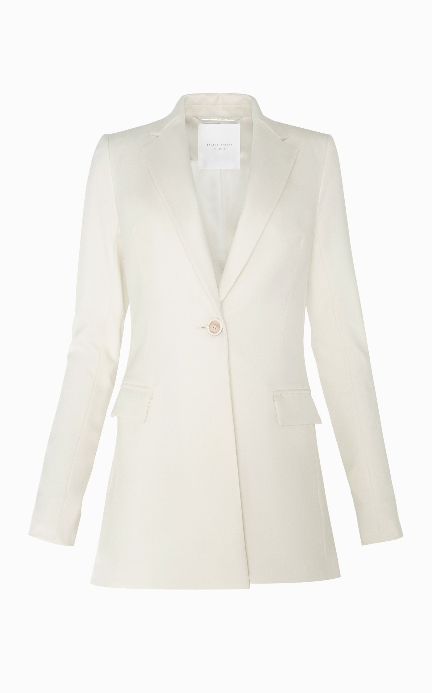 Sculpt Slim Blazer | Bone