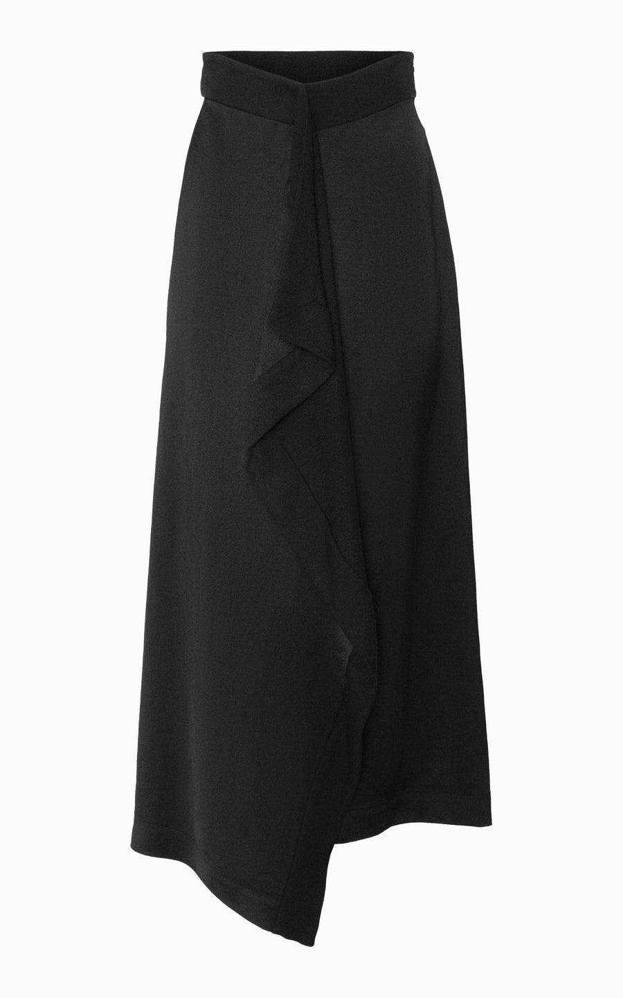 Helix Draped Skirt | Black