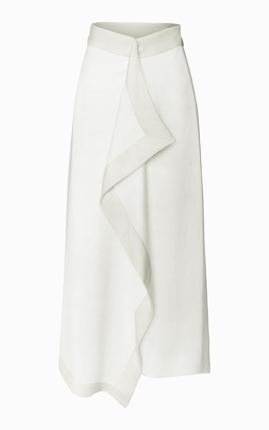 Helix Draped Skirt | Ivory