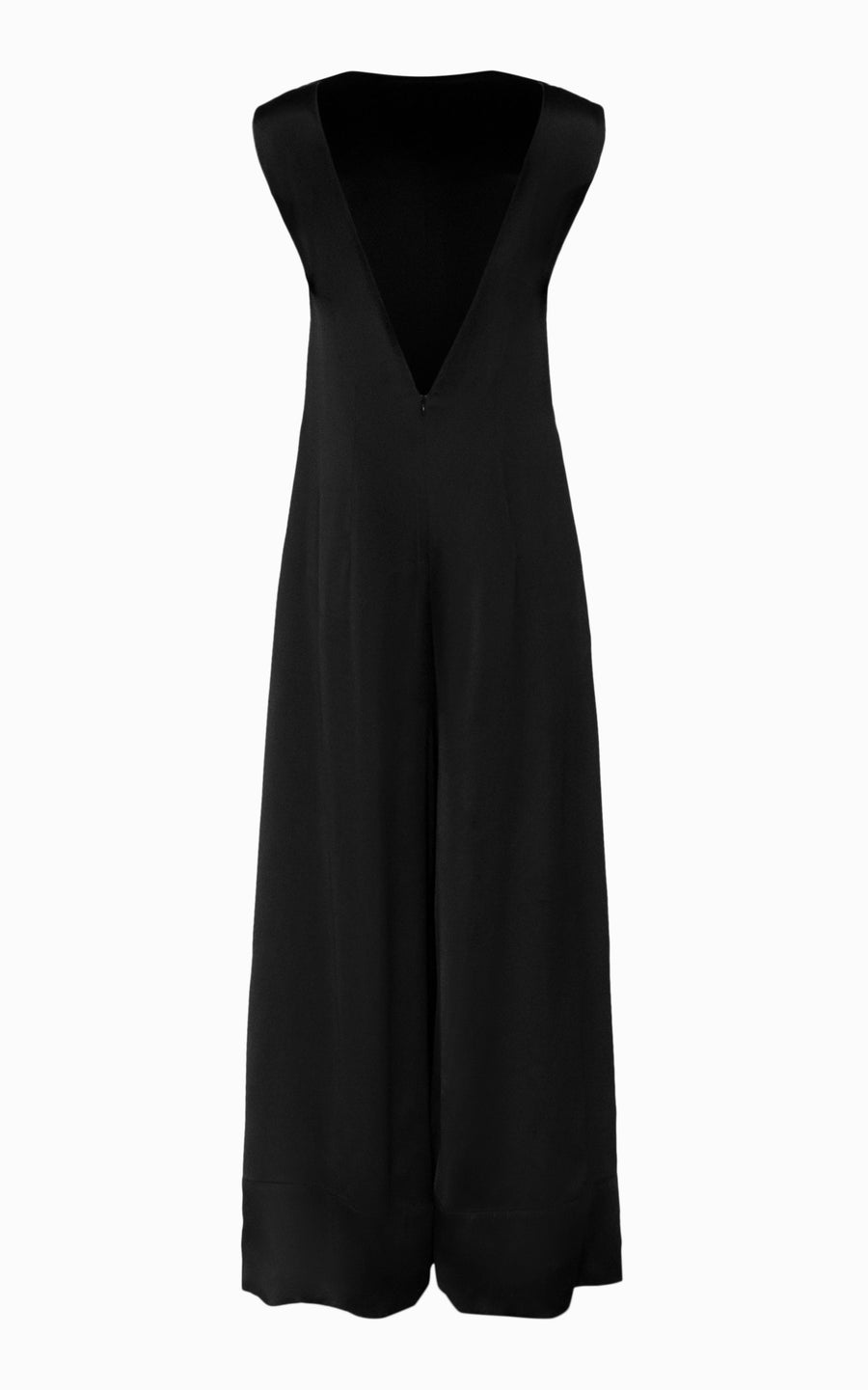 Sliced Back Palazzo Jumpsuit | Black