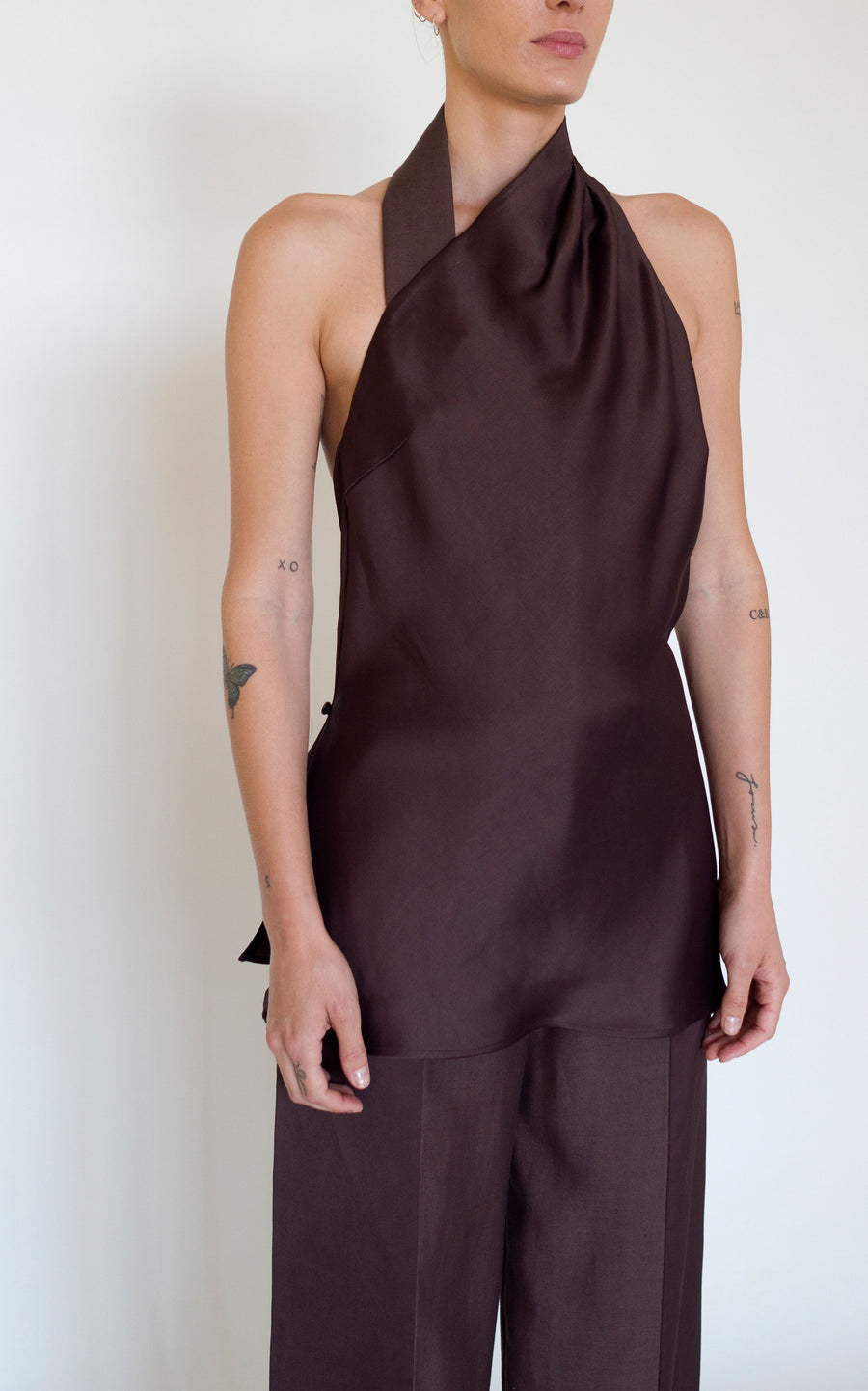 Bind Halter Top | Chocolate