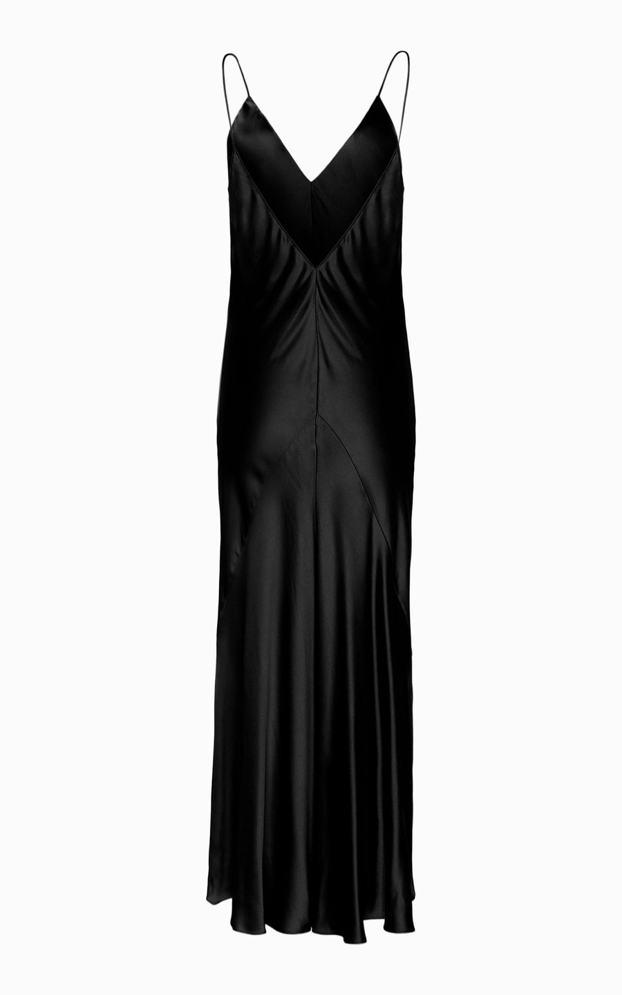 Liquid Bias Slip Dress | Black