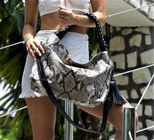 Load image into Gallery viewer, Jocasi Semara Bag in Dark Natural Python
