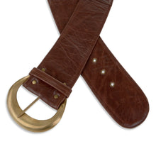 Moon Belt Classic in Brown Leather
