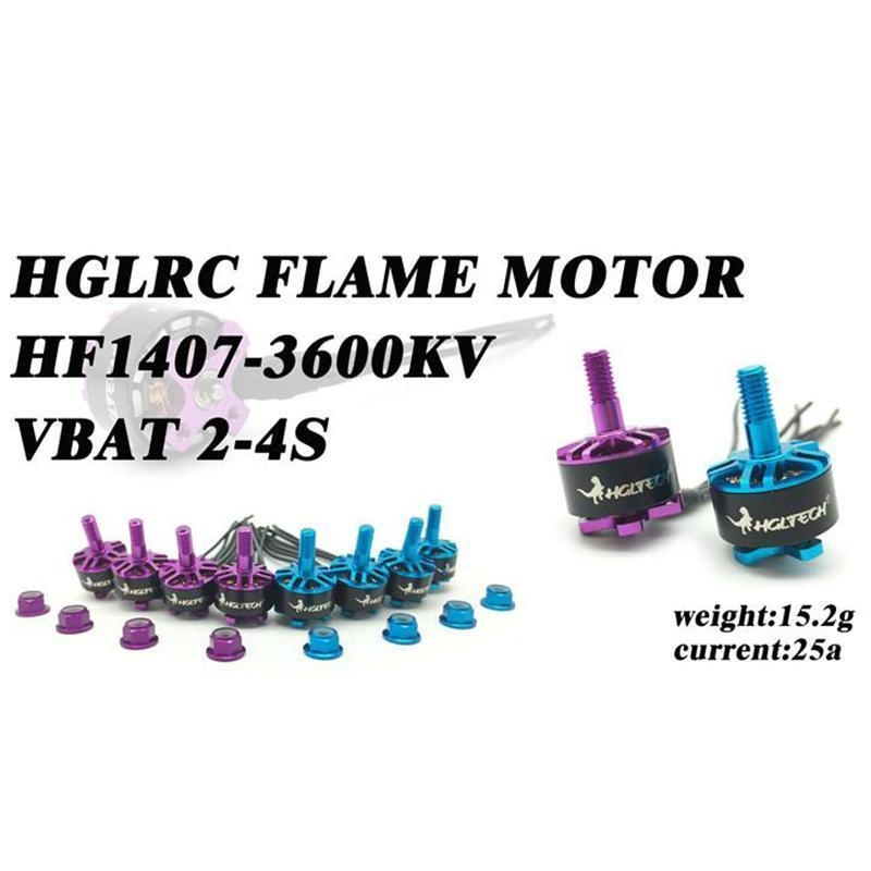 HGLRC Flame 1407 3600KV 3-4S Brushless Motor Blue/Purple