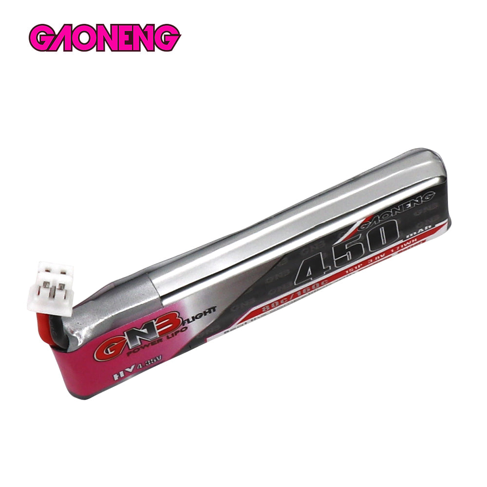 GNB 450MAH 1S 3.8V 80C PH2.0 LiPo Battery