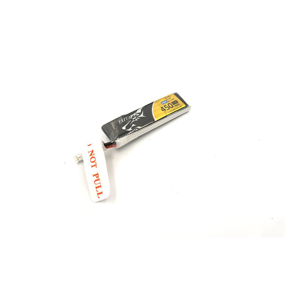 Tattu 450mAh 3.8V HV 95C 1S1P Lipo Battery JST-PHR Plug - Long Pack