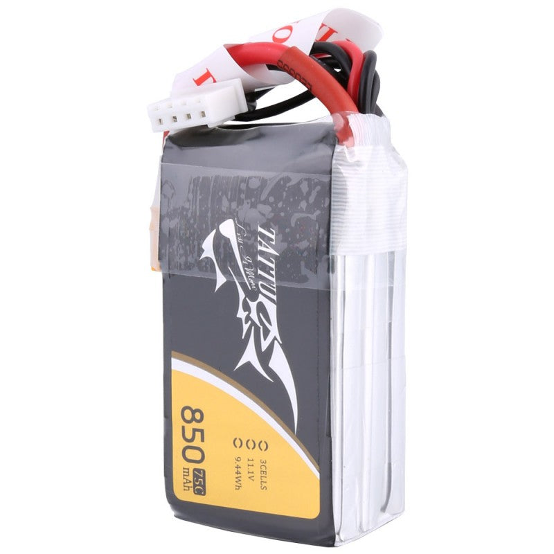 Tattu 3S 850mAh 75C 11.1V Lipo Battery Pack with XT30 Plug