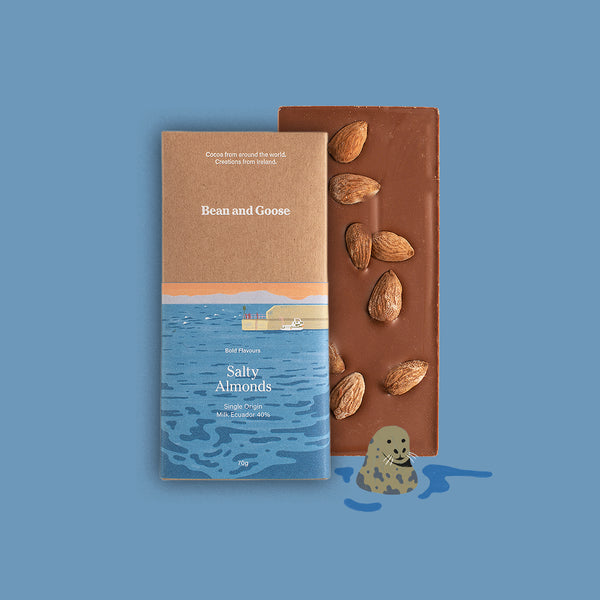Salty Almond Milk Single Origin Ecuador Chocolate Bar