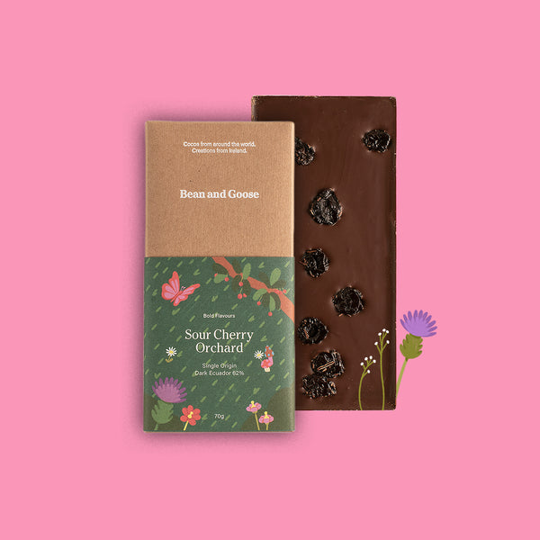 Sour Cherry Orchard Dark Single Origin Ecuador Chocolate Bar