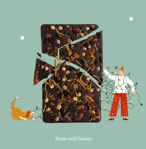 Seasons Eatings Christmas Chocolate Artwork from Bean and Goose Gifts