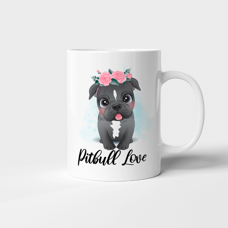 "Taza 11 oz ""Pitbull love"""