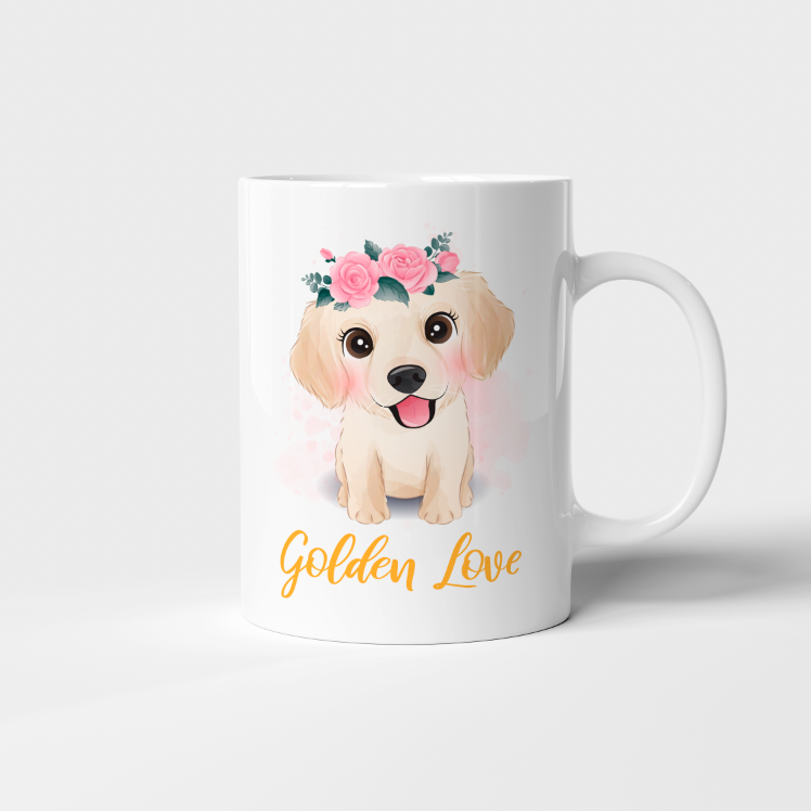 "Taza 11 oz ""Golden Love"""