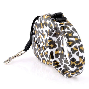 Leopard Print Retractable Leash