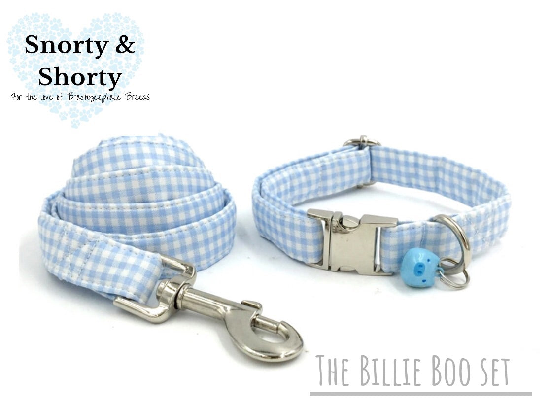 blue and white collar, bow collar, snorty and shorty, vintage fashion for pets, dog collar, dogs, cat collar, pets, pet accessories, pet shop, pug, bulldog,