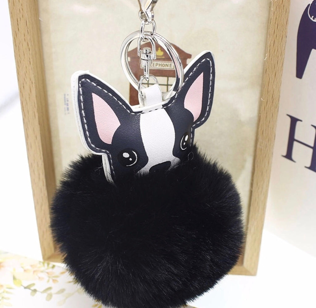 Fluffy Dog Keychain
