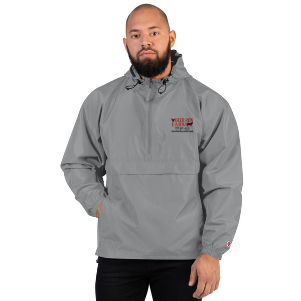 Embroidered Deer Run Farm Champion Packable Jacket