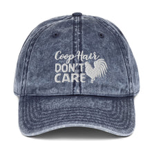"Load image into Gallery viewer, Vintage Cotton Twill ""Coop Hair Don't Care"" Cap"