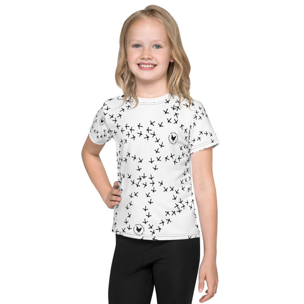 Kids Chicken Footprint T-Shirt
