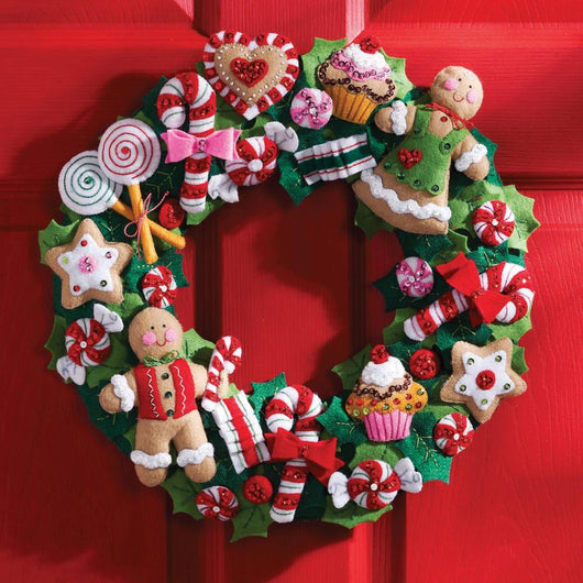 Bucilla Felt Wreath Applique Kit 15
