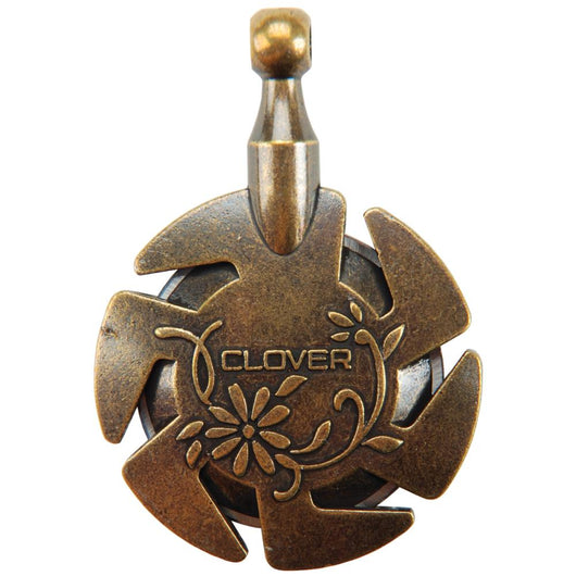 Clover Yarn Cutter Pendant Antique Gold - aplusstorenz