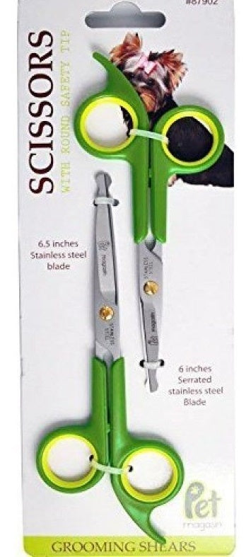 Pet Magasin Grooming Scissors Kits - (2 Pairs - 1 for Body and 1 for Face + Ear - aplusstorenz
