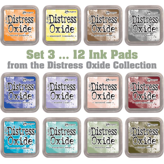 Tim Holtz Distress Oxides Ink Pads 12 pads Set 3 - aplusstorenz