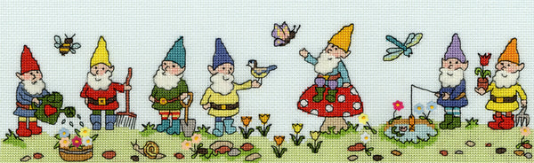 Bothy Threads--Row of Gnomes