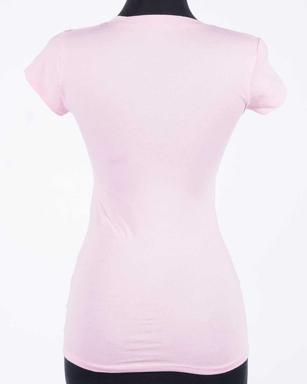 PUSSY v-neck tee, pink/blk