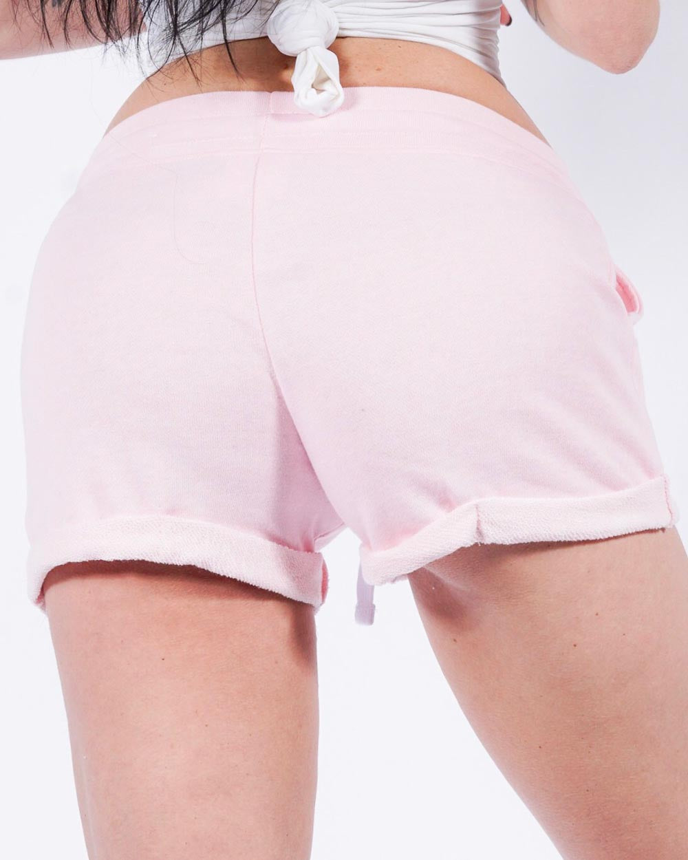 PUSSY lounge shorts, pnk/blk