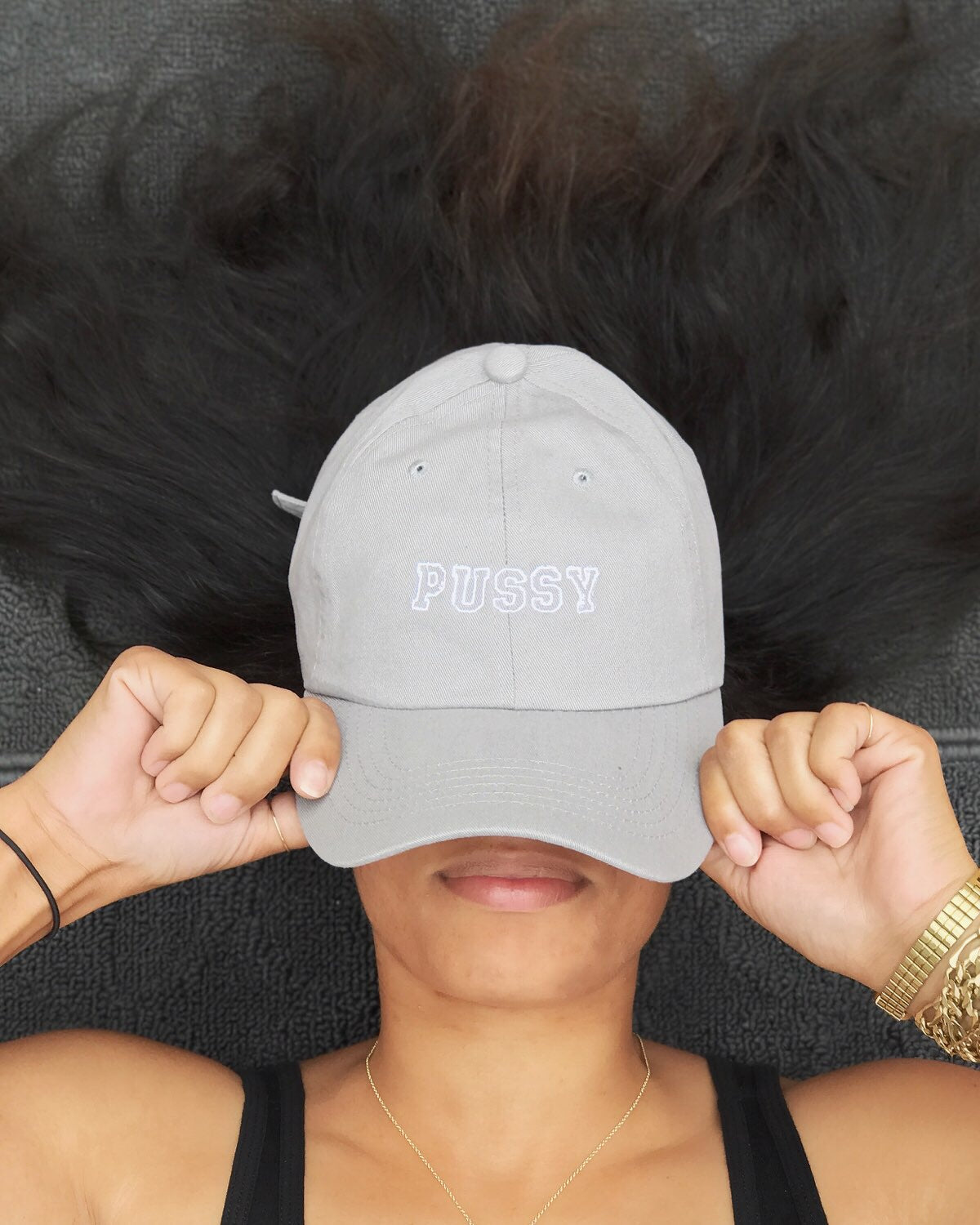 PUSSY cap, gry/wht