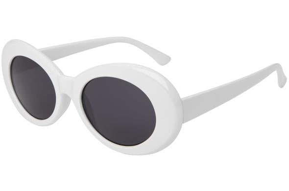 Bad Bunny White frame oval glasses