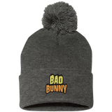 Bad Bunny Flame Pom Pom Knit Cap