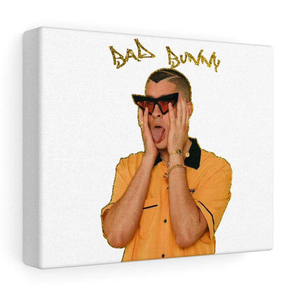 Bad Bunny Tongue Stretched Wall Canvas