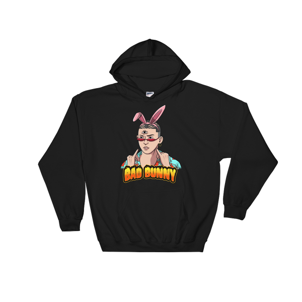 Bad Bunny With Bunny Ears Hoodie