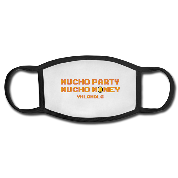 Mucho Party Mucho Money Face Mask - white/black