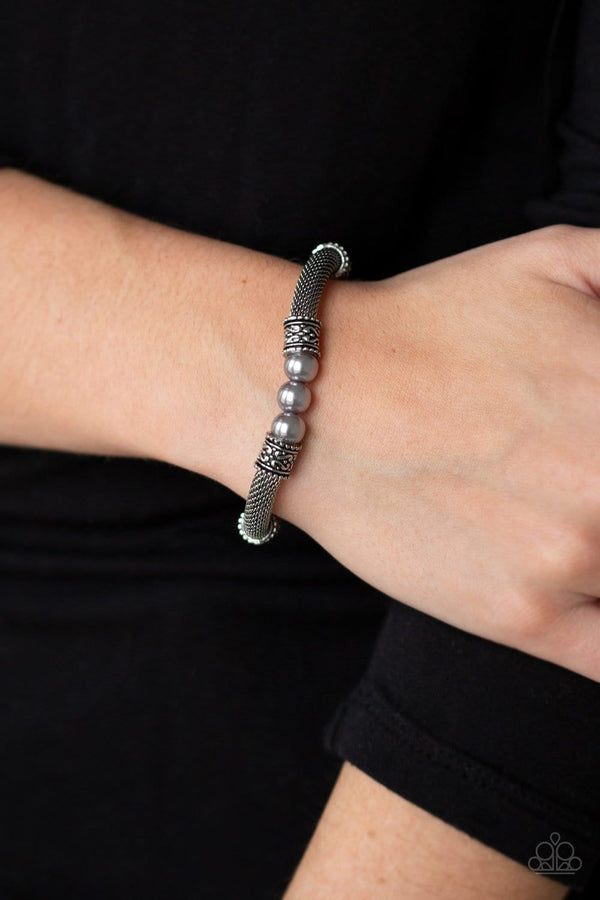 Jazzi Jewelz Boutique-Talk Some Sensei-Silver Stretch Band Bracelet