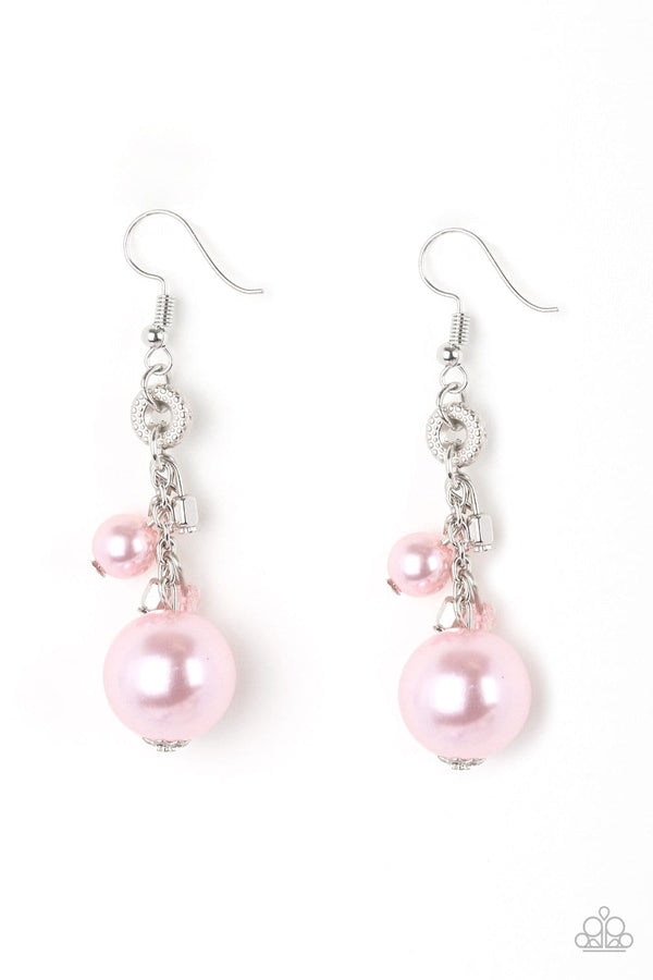 Jazzi Jewelz Boutique-Timelessly Traditional-Pink Pearl Earrings