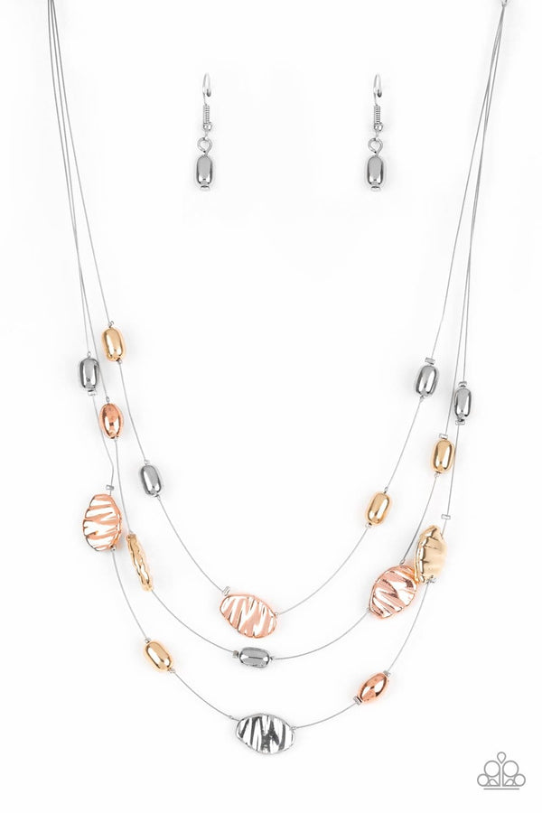 Jazzi Jewelz Boutique-Top Zen-Multi Metal Necklace and Earring Set