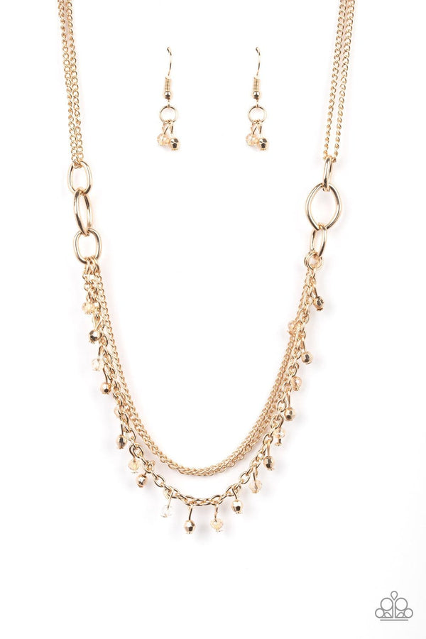 Jazzi Jewelz Boutique-Financially Fabulous-Gold Necklace and Earring Set