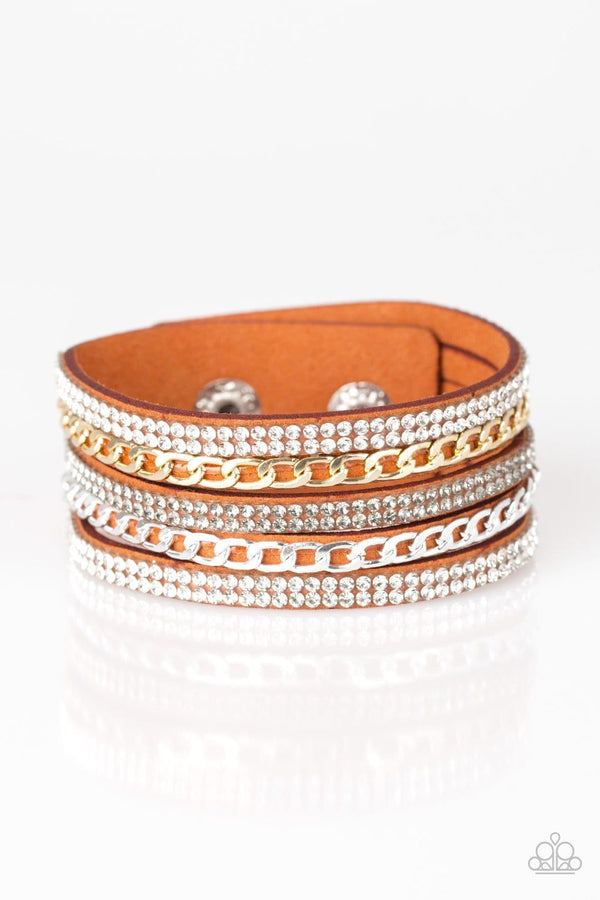 Jazzi Jewez Boutique-Fashion Fiend-Orange Snap Bracelet