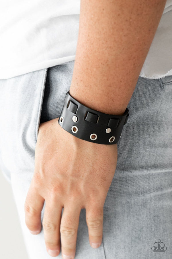 Jazzi Jewelz Boutique-Mainstreet Motocross-Black Mens Bracelet