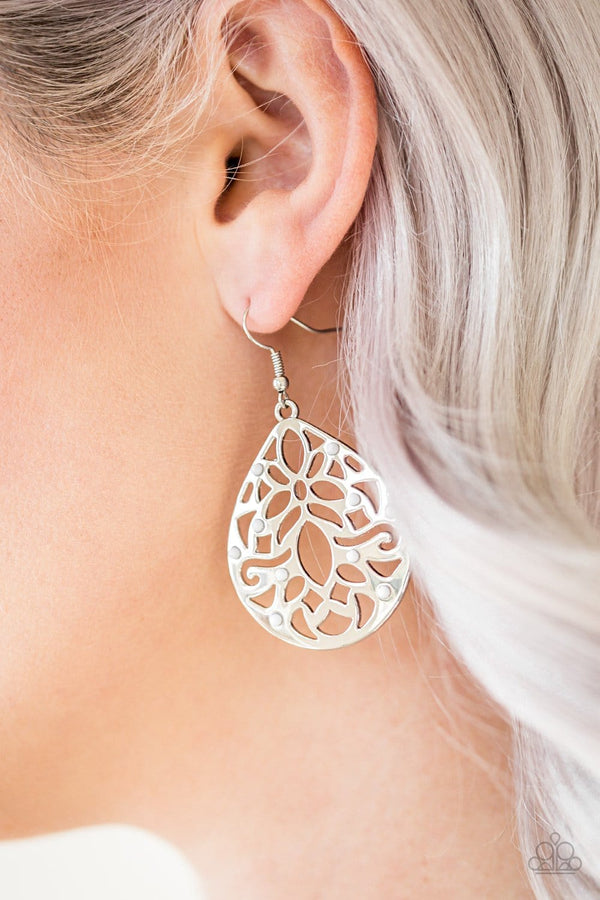 Jazzi Jewelz Boutique by Raven-Casually Coachella White Earrings